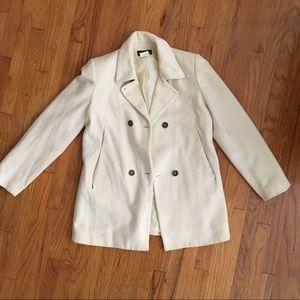 Winter white pea coat